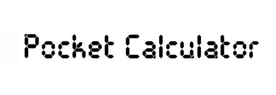 pocket calculator font