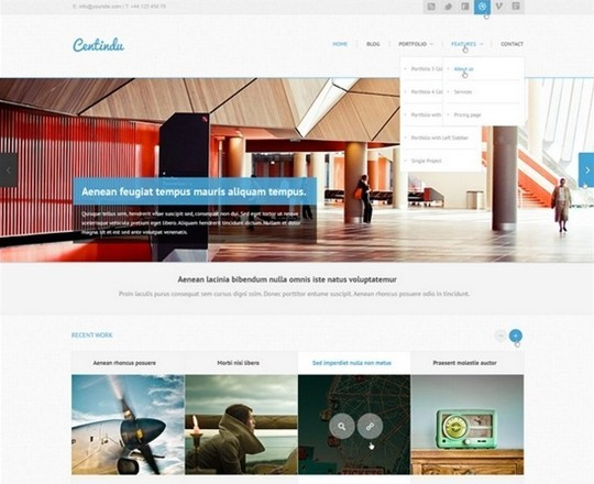centindu – clean and modern psd template