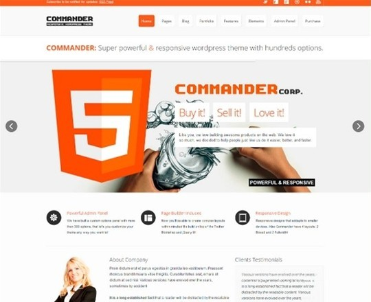 commander – responsive multi – purpose theme