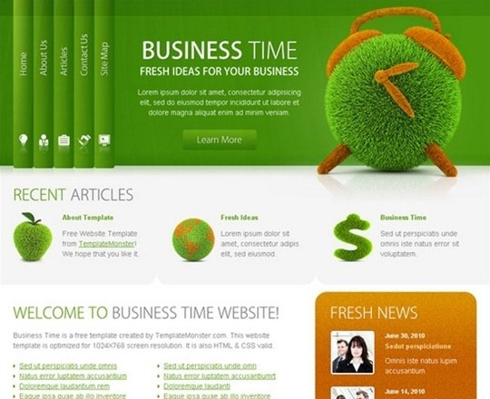 free business website template – successful solution for your project