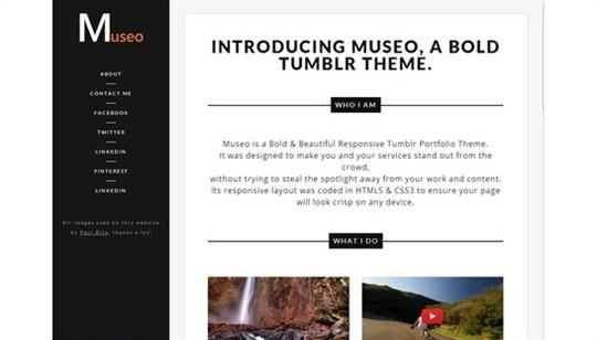 museo – a bold tumblr portfolio theme