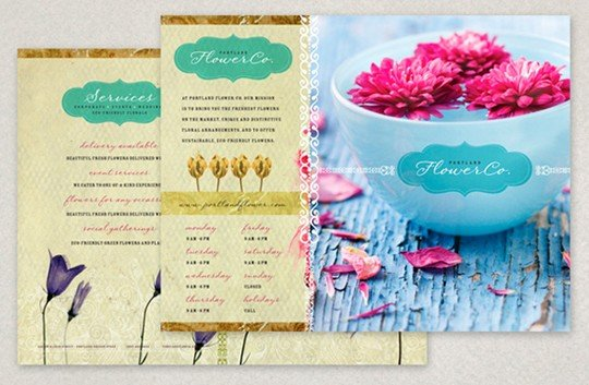 trendy flower shop brochure template