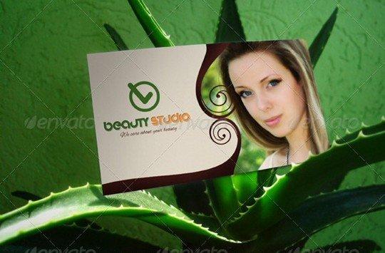 business card mock-up v05