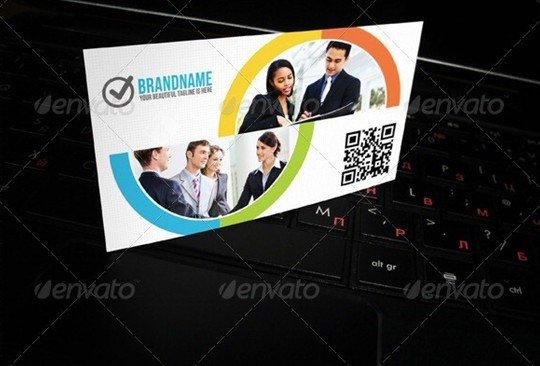 business card mock-up v07