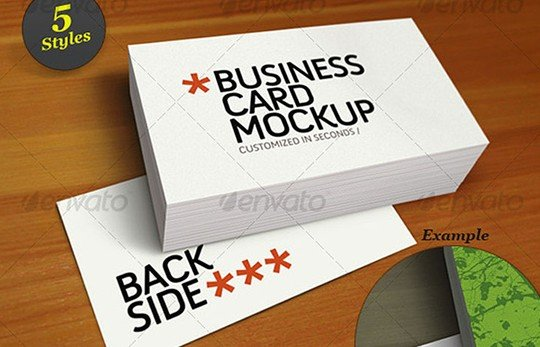 business card mockup smart template pack