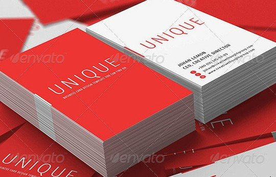 stack business cards mockup