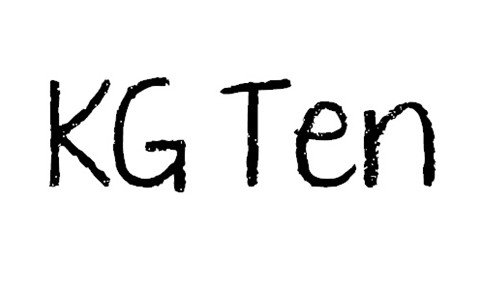 kg ten thousand reasons font