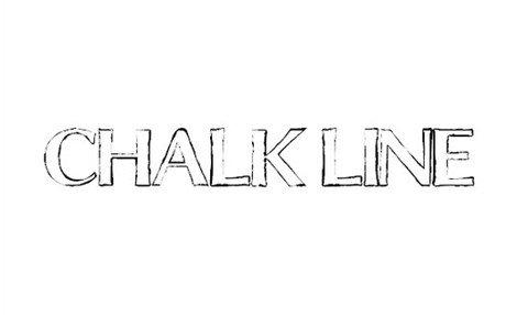 chalk line outline font font