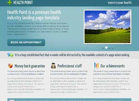 health point - health industry landing page