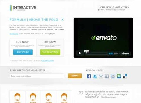 interactive - the landing page