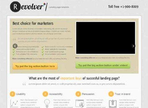 revolver premium landing page template