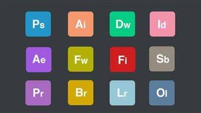 free flat adobe icon set