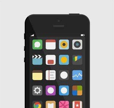 iphone freebie flat icons
