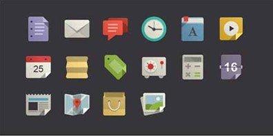16 flat design icons set vol1