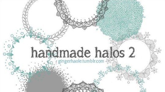 handmade halos 2 brush set