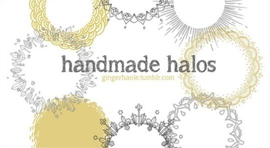 handmade halos brush set