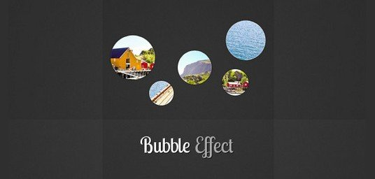 bubble slideshow effect