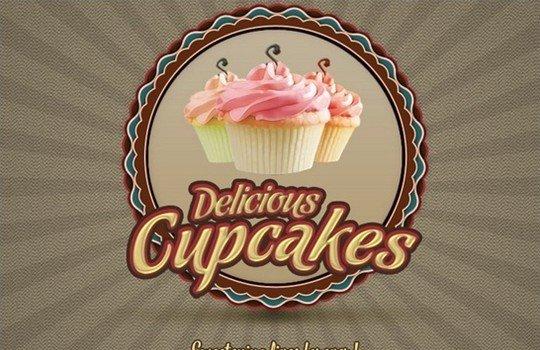 cupcake logo v1 - logo psd file