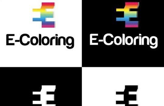 *free e-coloring logo template - logo psd file