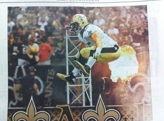 saints football fart newspaper