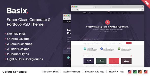 basix - super clean corporate & portfolio theme