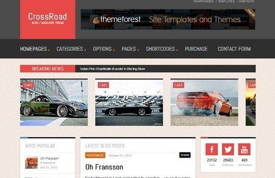 CrossRoad – Responsive WordPress Magazine / Blog