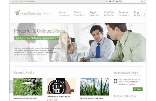 InnoCompany – Responsive Corporate Wordpress Theme