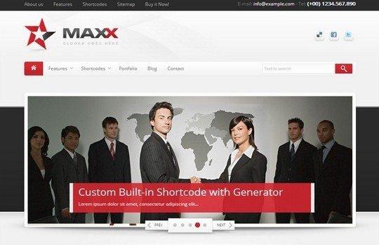 Maxx – Responsive Creative WordPress Theme