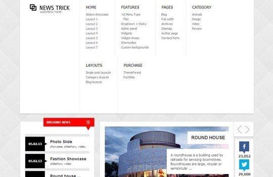 NewsTrick – Responsive WordPress Magazine / Blog