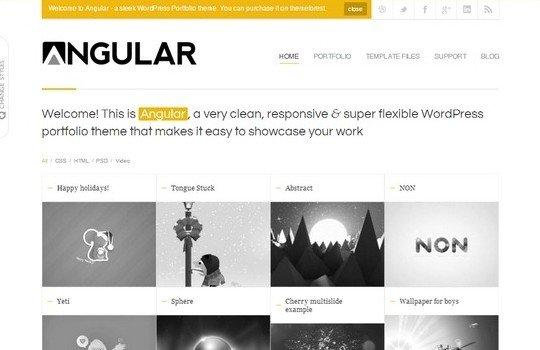 Angular – Responsive WordPress Portfolio Template