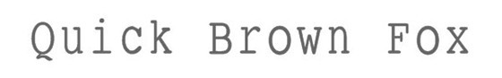 small typewriting medium