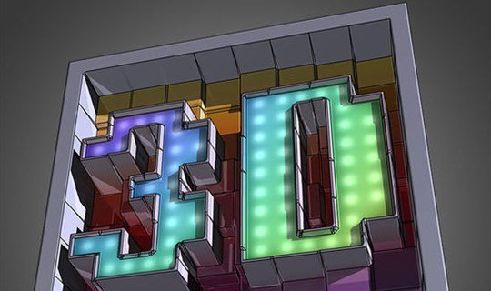 create awesome text made of 3d blocks