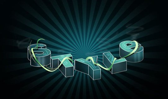 create a spectacular style text effect