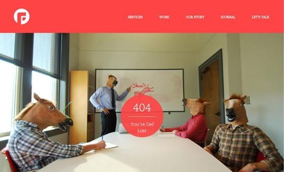 Focus Lab - 404 page designs