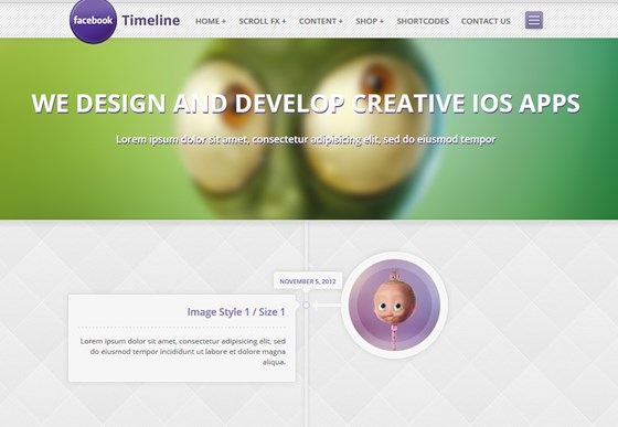 Timeline E Commerce Wordpress Theme