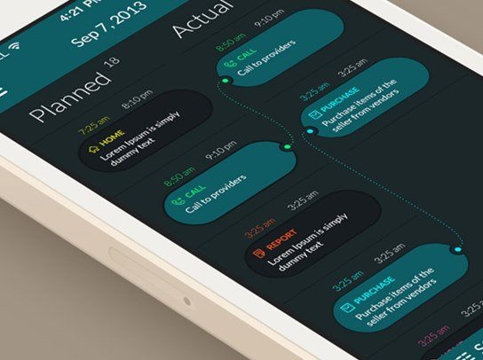 48 Flat Mobile Ui Design Examples For Inspiration