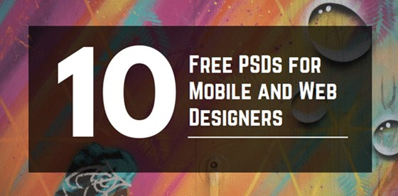 Top 10 Free PSDs for Mobile and Web Designers