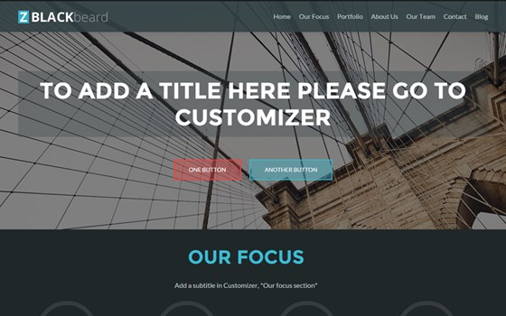 zblackbeard free wordpress theme