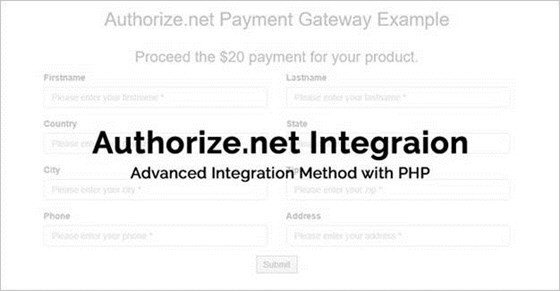 How To Integrate Authorize.Net AIM Using PHP