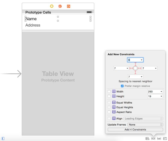 ios8 table design