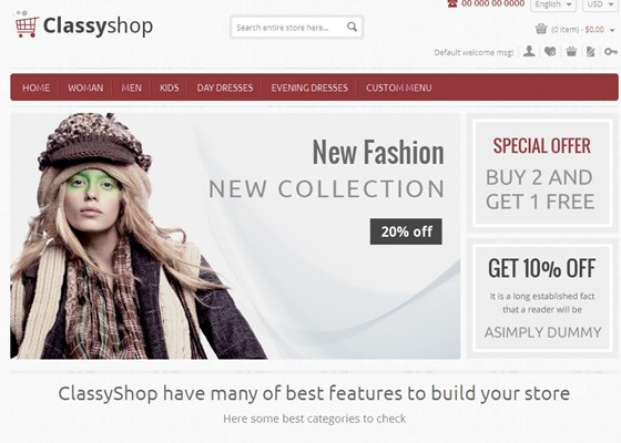 ClassyShop - Responsive Magento Themes