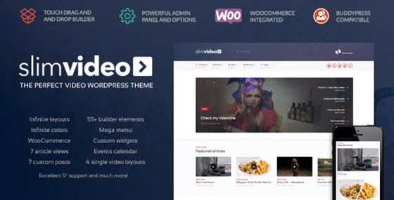 Slim Video WordPress Theme