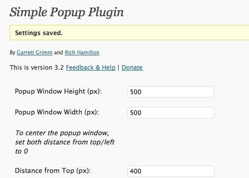 Simple Popup Plugin