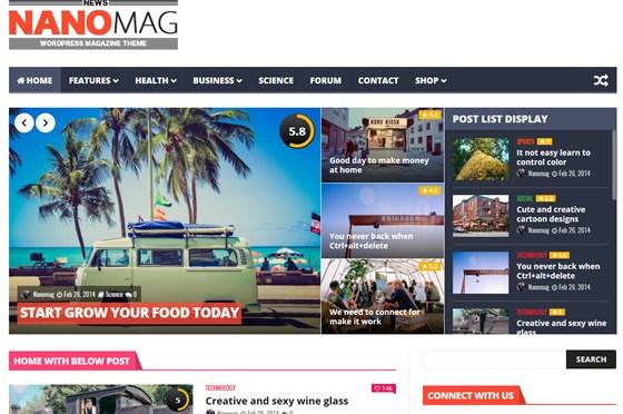 NanoMag Responsive WordPress Magazine Theme