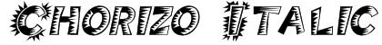 Chorizo Italic Font