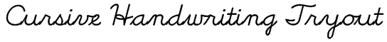 Cursive Handwriting Tryout Font