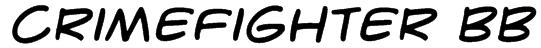 CrimeFighter BB Font