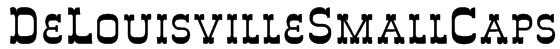 DeLouisvilleSmallCaps Font