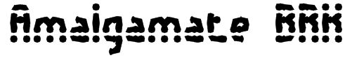 Amalgamate BRK Font
