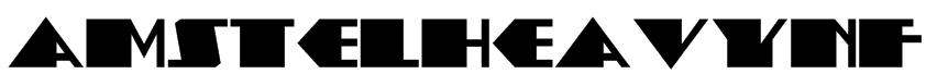 AmstelHeavyNF Font